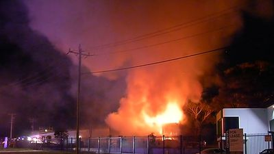 Canola oil factory engulfed in flames