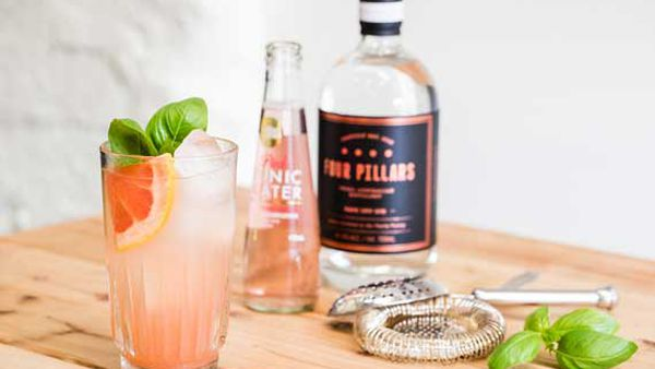 Tickled pink gin cocktail