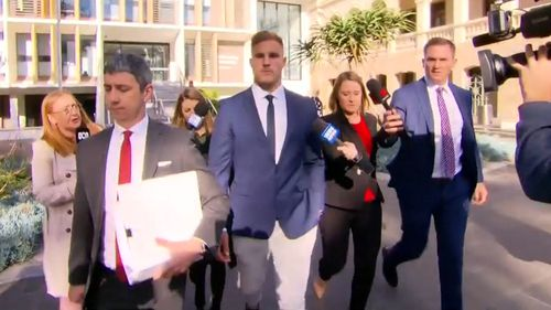 Jack de Belin did not comment as he entered court.