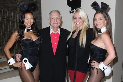 Fun fact: Hugh Hefner's relationship record? Dating seven women at the same time (including identical twins!)<br/><br/>The <i>Playboy</i> founder is so open about his polygamous ways that he had reality show <i>The Girls Next Door</i> document his simultaneous relationships with Kenda Wilkinson, Bridget Marquardt and Holly Madison.<br/><br/>