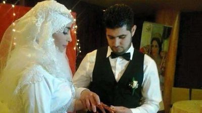 "<p>Moroccan newlyweds Asmae Ouahoud and Mohamed Tehrioui were headed for a new life in Germany just 48 hours after their dream wedding. </p><p> Now the same 200 family and friends who attended the nuptials are among countless others grieving the tragic deaths of loved ones after their flight was deliberately run aground by co-pilot Andreas Lubitz on March 24. </p><p> Moroccan-born Ms Ouahoud, 23, and 24-year-old Mr Tehrioui boarded the doomed Germanwings Airbus A320-211 in Barcelona bound for Duisburg, a 15 minute drive from Düsseldorf. </p><p> The last word friends and family heard from the newlyweds was a <a href="" http://www.mirror.co.uk/news/uk-news/germanwings-plane-crash-first-picture-5408052 ""> Whatsapp message sent from the bride </a> at the terminal, which read: ""Thankyou for the wedding and for everything we ever wanted.""</p><p> The body of Ms Ouahoud, her hands still adorned with henna, a tradition for Moroccan women when celebrating a special occasion, was identified among the wreckage along with her husband. They will now be buried in the city of Nador in Morocco. (Supplied)</p>"