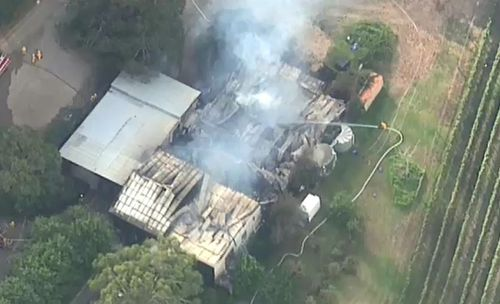 Part of the property has been completely gutted. (9NEWS)
