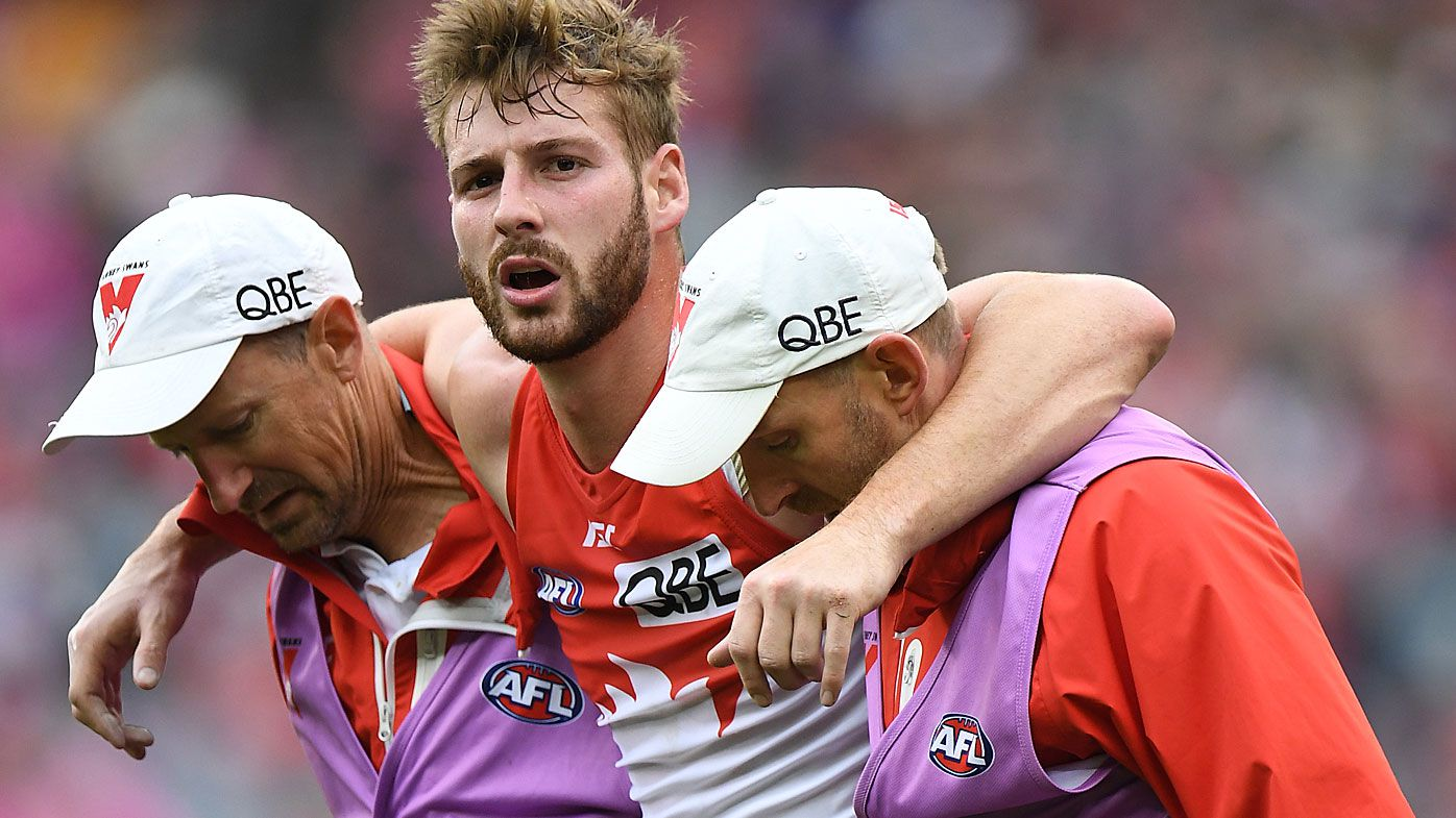 Former Swans star suffers ACL injury for seventh time