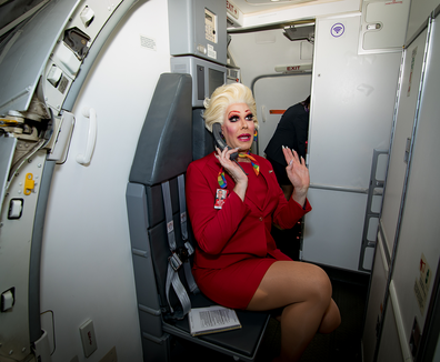 Virgin Australia Pride Flight drag queen