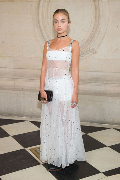 Lady Amelia Windsor in Christian Dior at the Christian Dior show as part of the Paris Fashion Week  September, 2017
