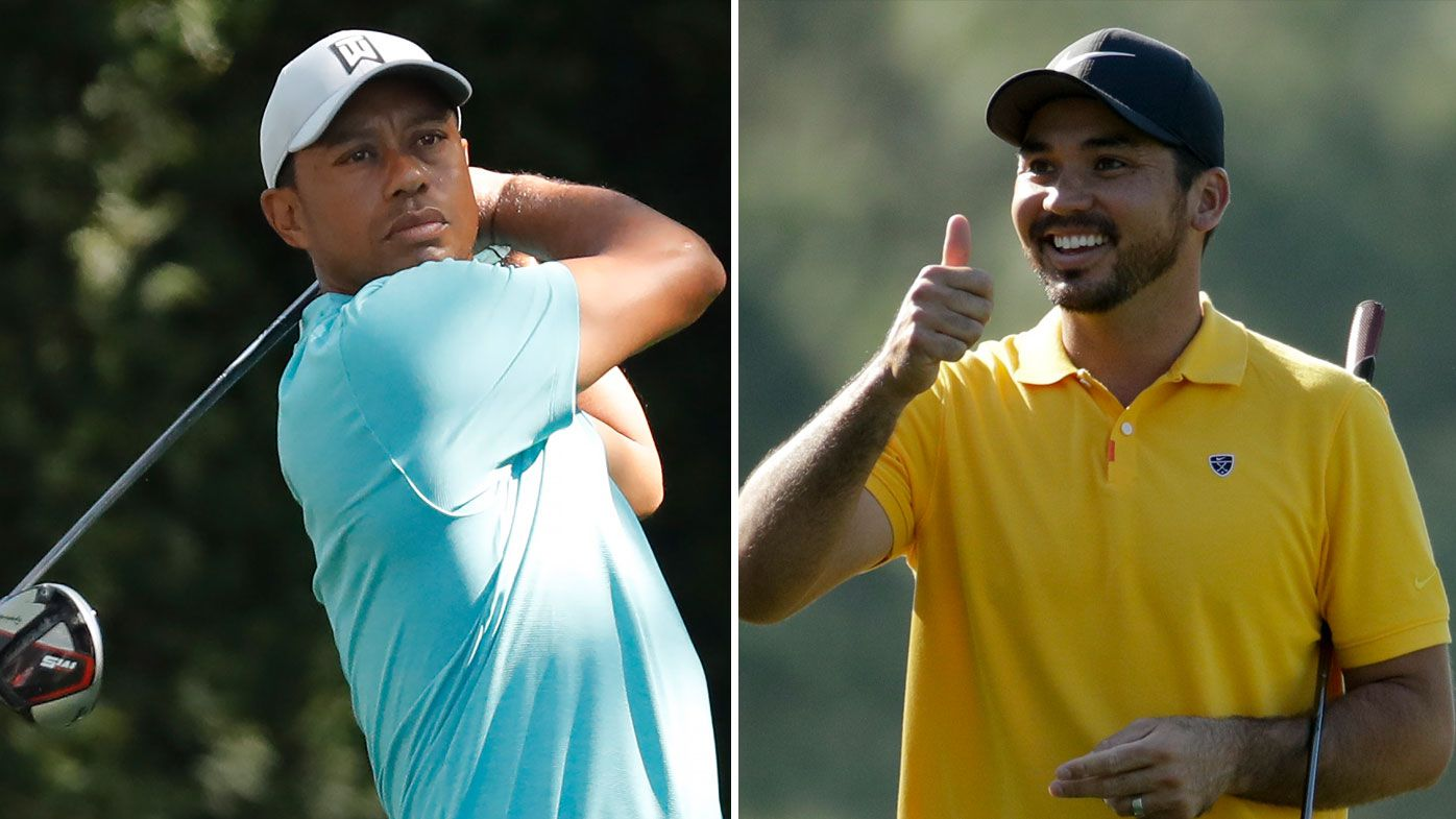 Tiger Woods (left) and Jason Day.