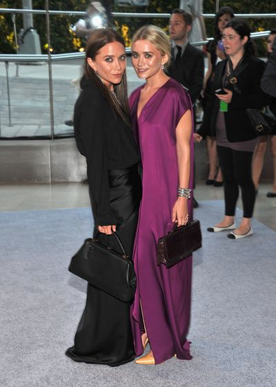 Ashley and Mary Kate Olsen, wearing their own label The Row, at the 2012 CFDA Fashion Awards in New York, June, 2012
