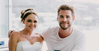 Liam Hemsworth was more than happy to meet the young couple.