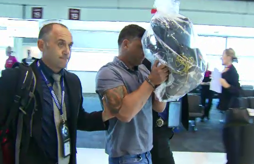 Piccinato was extradited from Melbourne before facing a Brisbane court. (9NEWS)