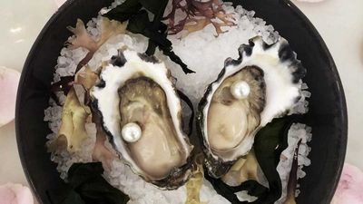 """Bistro Remy's South Sea Pearl entree - RRP $3,200<br /> <a href=""""http://www.langhamhotels.com/en/the-langham/sydney/dining/bistro-remy/"""" target=""""_top"""">The Langham - Bistro Remy</a>"""