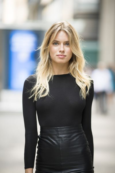 Megan Irminger at the Victoria's Secret Casting Call in New York on August 21.
