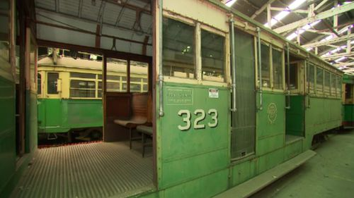 Just a handful of the historic trams continue to operate. (9NEWS)