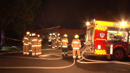 A suspicious fire has gutted a home in Beverly Hills, in Sydney's south. (9NEWS)