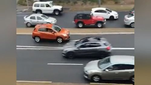Police allege the pursuit of the allegedly stolen Holden Trax began after a pregnant woman and a worksite manager were threatened by the man.