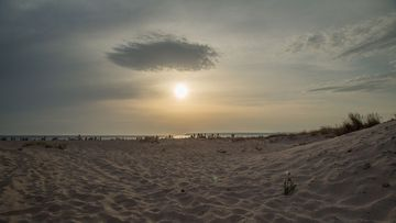 A view of Carmen Beach in Zahara de los Atunes, Andalucia, Spain.