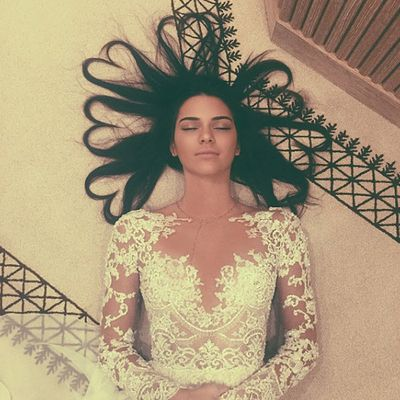 1. Kendall Jenner's hair of hearts. Likes: 3.2 million. Comments: 143.9k.