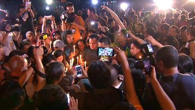 The families of Chan and Sukumaran were reportedly 'hysterical' after  hearing the fatal shots. (9NEWS)