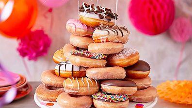 Krispy Kreme's Doughnut cake pack retails for $63