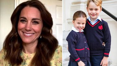 Kate Middleton Duchess of Cambridge appears on This Morning Princess Charlotte Prince George in school uniform
