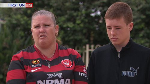 Daniel's mother Gail said she was not happy to find her son trying to get the pepper spray out of his eyes. (9NEWS)