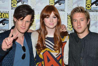 More like <i>Dr Hot</i>... <i>Dr Who</i> stars Matt Smith, Karen Gillan and Arthur Darvill.