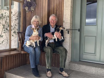 Camilla and Charles with Bluebell and Beth