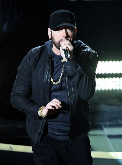 Eminem, Oscars, 2020, sings, on stage