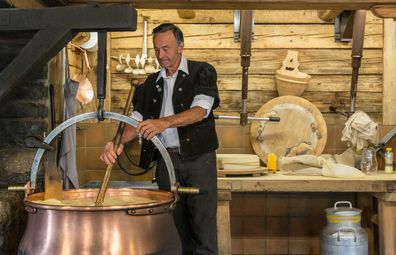 Le Chalet in Switzerland lets you make cheese fondue from scratch