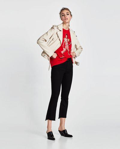 """<a href=""""https://www.zara.com/au/en/faux-leather-biker-jacket-p03046024.html?v1=5665346&amp;v2=1009725"""" target=""""_blank"""">Zara Faux Leather Biker Jacket in Beige, $99</a>"""