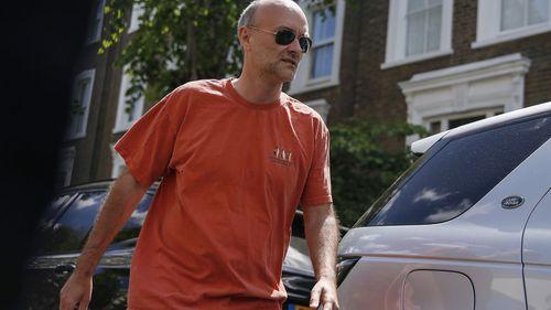 Boris Johnson's Chief Advisor, Dominic Cummings leaves his home on May 23, 2020 in London, England
