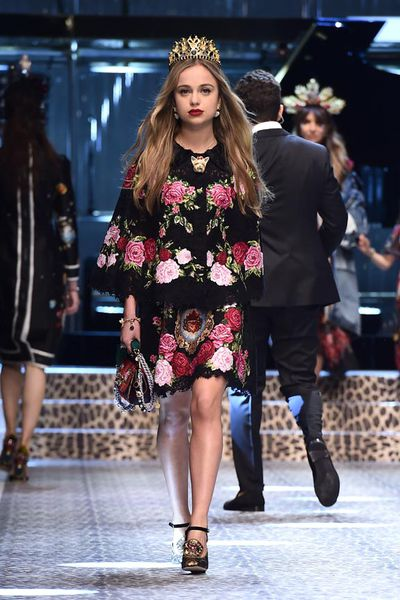 Lady Amelia Windsor at Dolce & Gabbana