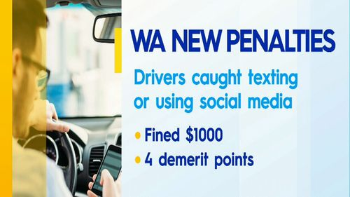 WA drivers now face the harshest penalties in the country, if they use their phones while driving.