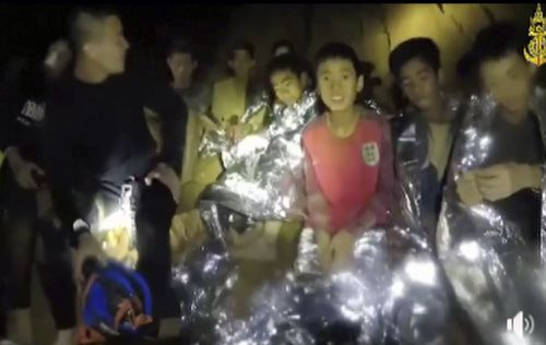 The soccer team of 12 young boys, and their coach, were stranded in a flooded cave in Chang Rai, Thailand.