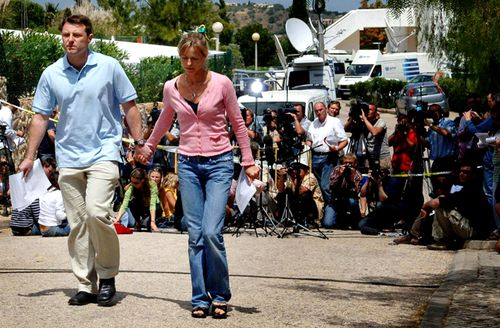 Gerry McCann, father of missing girl Madeleine McCann, after speaking to the press with his wife Kate in Portugal, 2007. (Getty)