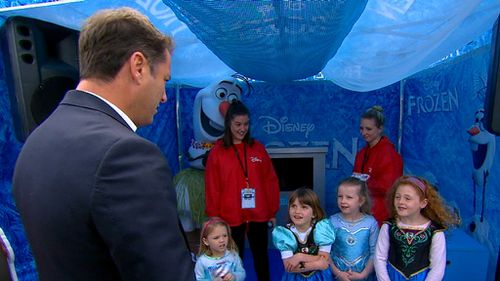Karl Stefanovic is challenged to a sing-off.