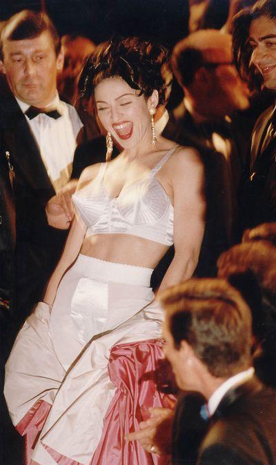 Madonna atthe premiere of her film<em> In Bed with Madonna</em> in 1991 at the Cannes Film Festival, France.
