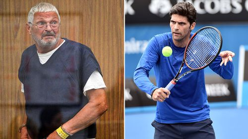 Mr Philippoussis Snr was scheduled to appear in court this morning but remains bed-ridden following a stroke.