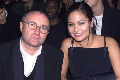 Phil Collins and Orianne Cevey<br />