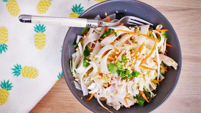Quarantine Kitchen coconut poached chicken salad recipe