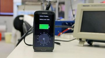 A demonstration at a technology conference fully charged a smartphone in less than 30 seconds. (Photo: StoreDot)