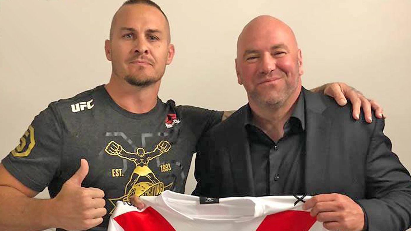 Ex-NRL star Matt Cooper pals up to UFC president Dana White, desperate to fight Paul Gallen