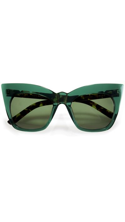 "<a href=""http://www.pared.com.au/womens/kohls-amp-kaftans-emerald-green"" target=""_blank"">Sunglasses, $250, Pared</a>"