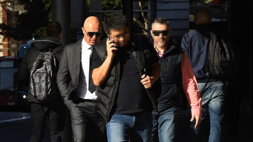 George Kyriakidis (left) outside court in August.