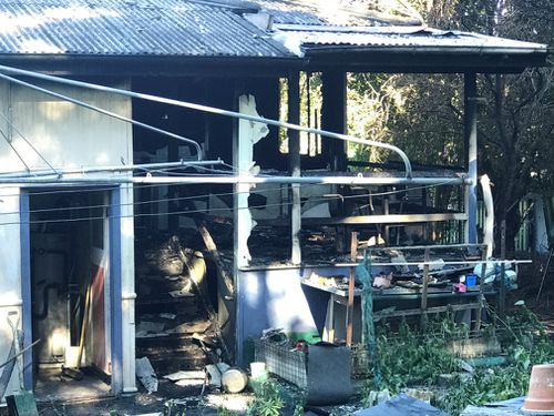 The man was cooking dinner when the fire began. (9NEWS)
