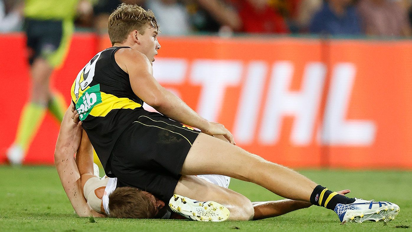 'A terrible look': Richmond star Tom Lynch under fire after ugly off-ball knee in win over St Kilda