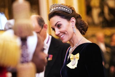 Kate Middleton wears Princess Diana's tiara and Queen's jewels for Diplomatic Corps Reception at Buckingham Palace