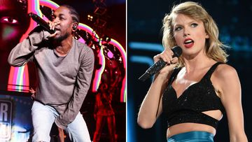 Taylor Swift, Kendrick Lamar and the Weeknd are all top nominees. (AAP)