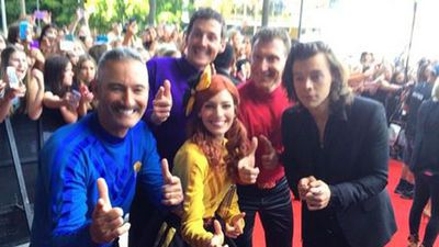 Harry Styles got down with The Wiggles. (Tash Ronning, Twitter)