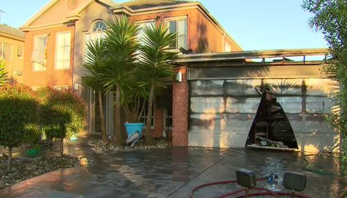 The fire was mainly contained the garage of the home.