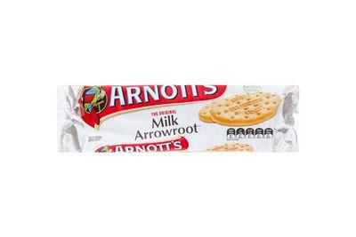 Milk Arrowroot: 148kj/35 calories per biscuit